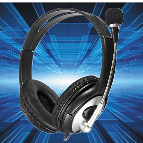 USB Stereo Headphone Gaming Headset Earphone with MIC for PC Laptop Notebook