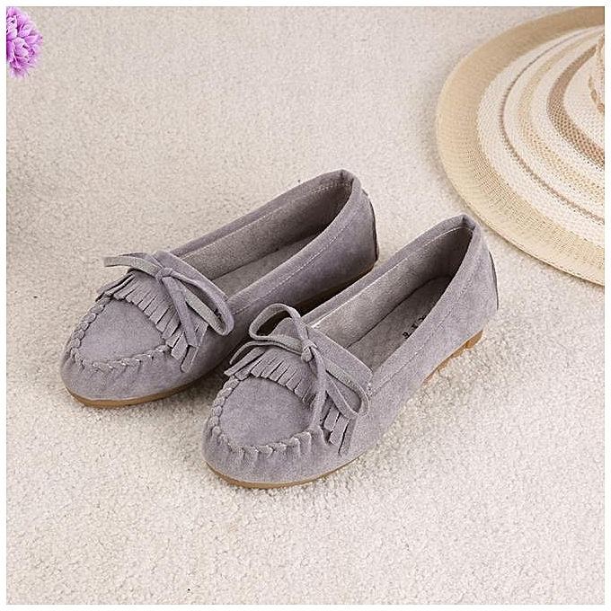 a58664f0d87 Neworldline Women Flats Shoes Slip On Comfort Shoes Flat Shoes Loafers GY  35- Gray -CN SIZE