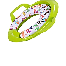 Children Potty Training Seat Kids Baby Toddler Handle Toilet Soft Pad Portable