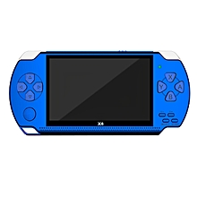 X6 4.3 Inch Handheld Game Console Video Game Player (Blue)