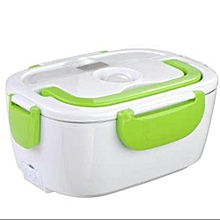 Electric Lunch Box 1.05 Litres - White & Green .