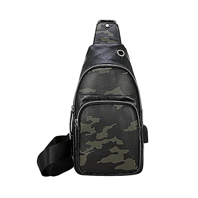 Buy Fashion Men Faux Leather Leisure Crossbody Bag Chest Bag   Best ... 04a4b5e63905f