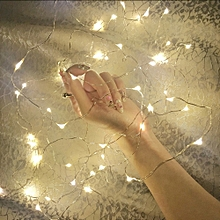 10LED Copper Wire String Lights for Decorations 1pc - Warm White