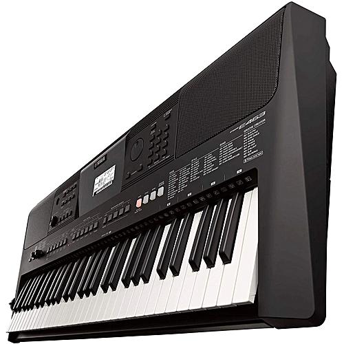 PSR - E463 61, Key Portable Keyboard Musical Climax - Black