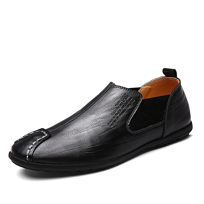 Buy Fashion Cow Leather Slip On Men Shoes Driving Shoes Black Best
