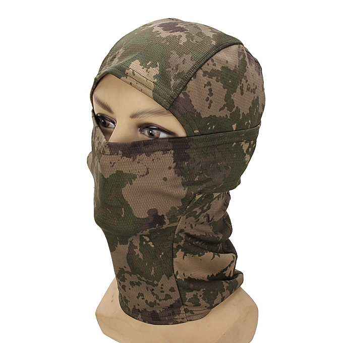 NEW Camouflage Balaclava Army Outdoor Tactical Military Full Face Mask Cap Hats Moss and lichen