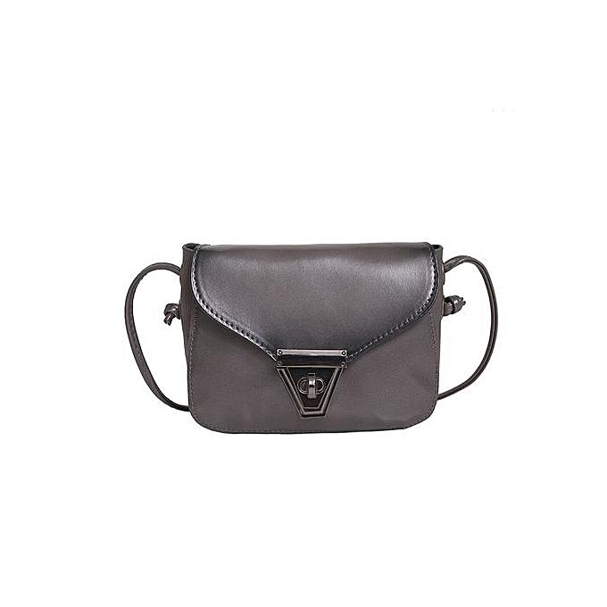 bc043ac14a Women Leather Satchel Handbag Shoulder Tote Messenger Crossbody Hobo Bag  Grey