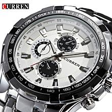 967eeb3c3 Curren Men's Stainless Steel Waterproof Chronograph