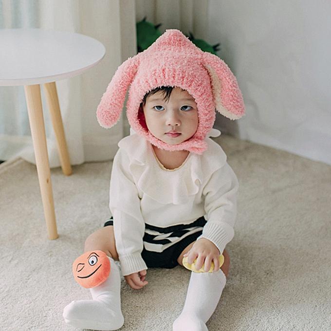 4b44cbdff83 Generic Baby Beanie For Boys Girls Cap Cotton Ear Hat Warm Children ...