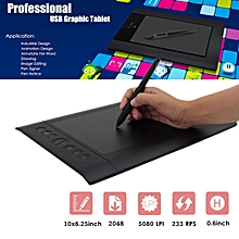 "H610-Pro 10""x6.25"" USB Art Graphics Huion Drawing Tablet Pad/Cordless Pen Hotkey"