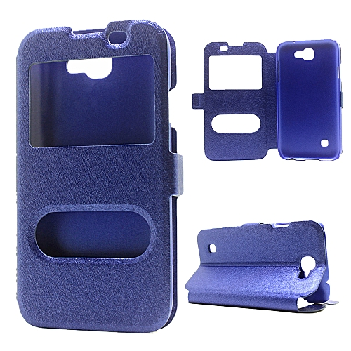 size 40 cb34f 5b91d Grandcase Phone case,Case for LG K3 2017,[Clear Window View] Premium  Leather Flip Cover Silk Texture Case with Kickstand