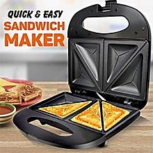 2 Slice Efficient Sandwich Maker/Toaster/Grill - Black