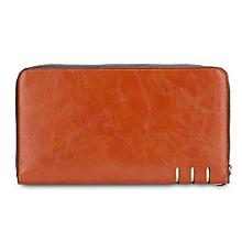 Women Baellerry Business Long Clutch Wallet Card Holder - Light Coffee