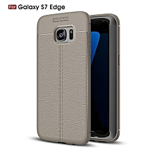 PU Leather Litchi Pattern Case For Samsung Galaxy S7Edge G935 Soft TPU Silicone Back Cover For Samsung S7 Edge Case Cover