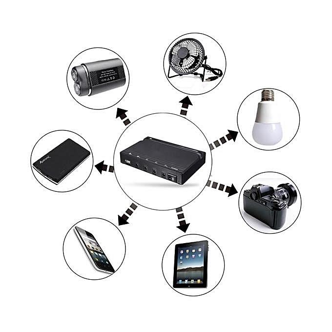 Generic Solar Power Panel Dc Usb Charging Phone Led Fan Light Kits