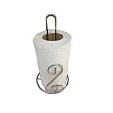 Stainless Steel Standing Towel Holder  - Silver