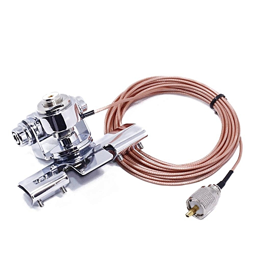 Antenna Mount RB-400 clip + 5M Clip Mount Cable PL259 SO239 Connector for  Walkie Talkie Mobile Car Radio