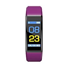 115PLUS Bluetooth Smart Band Waterproof Heart Rate Monitor Sports Pedometer purple