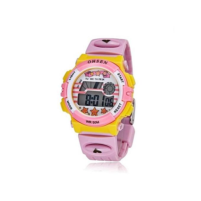 483012413f Generic Girls Sports Fashion LED Digital Watch-pink   Best Price ...