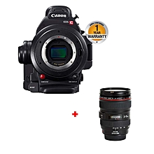 EOS C100 - 8.29 MP - Mark II Camera - Black + 24-105mm Lens