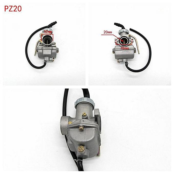 PZ20 Carb Carburetor For 49cc 70cc 90cc 100cc 110cc 125cc Chinese ATV  Vehicle silver