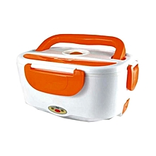Electric Lunch Box-  White & Orange
