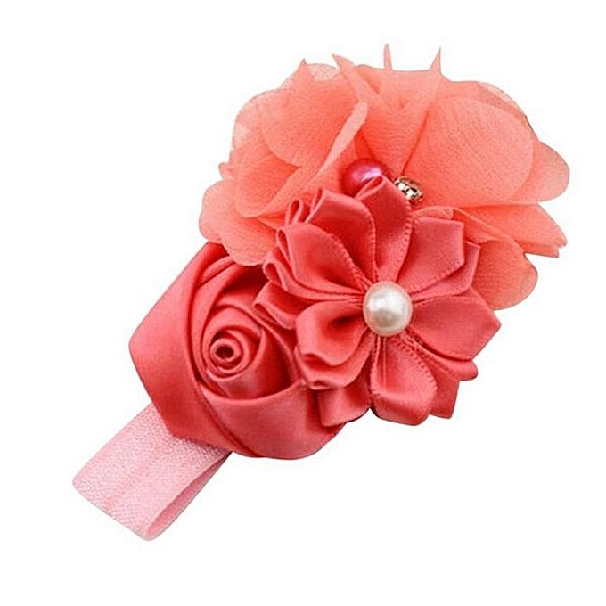 Eissely Baby Girl Flower Pearl Flower Hair Band Headband Hairband