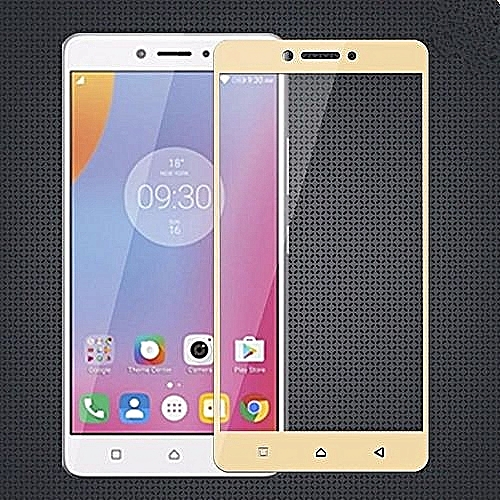 Full Covered Curved Tempered Glass Screen Protector For Lenovo K6 Note  (Gold)