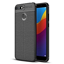 "Huawei Honor 7A Case, Meikengkai Ultra Slim [Litchi Pattern] Resistant TPU Anti-Scratch Shock Absorption Protective Cover For Huawei Honor 7A/Y6 2018/Enjoy 8E 5.99"" 253953 c-2 (Color:Main Picture)"