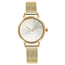 New Women Gold Bracelet Quartz Watch Steel Dress Fashion Female Ladies Wristwatch Luxury Crystal Bracelet Watches Gold
