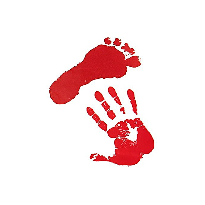 Halloween Window Stickers Decoration Scary Blood Foot Party Bloody Red  Decals