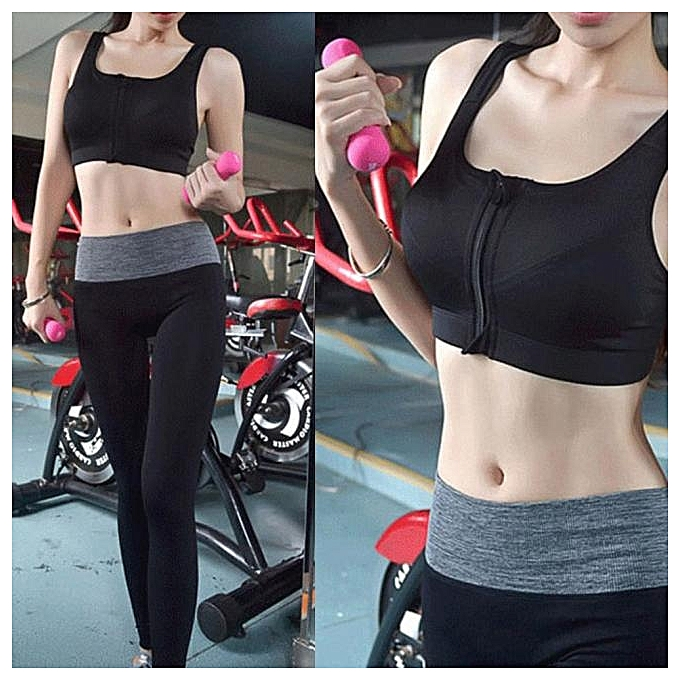 21f4b72822caf FLAMA Women Sport Gym Yoga Workout Bra Running Padded Fitness Tops ...