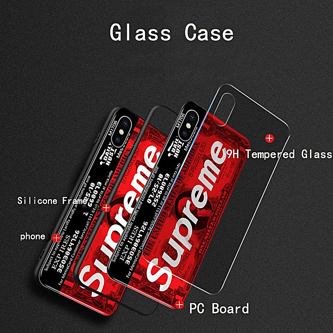 For Samsung Galaxy J7 Prime Case Tempered Glass Full Cover Superme Design  Full Protection Casing For Samsung J7 Prime Shell Cases (J7 Prime-(1))