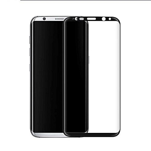 pretty nice 9de39 f4f89 Full Covered Curved Tempered Glass Screen Protector For Samsung Galaxy S8  Plus (Black)