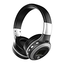 Active Noise Cancelling Bluetooth Wireless Over Ear Headphones with Microphone balck & silver