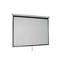 Manual Wall-Mount 84' x 84' Projection screen.
