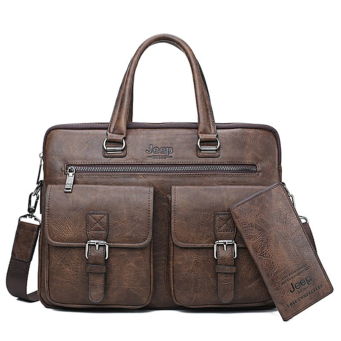 4b83241eb7 JEEP BULUO Men Business Bag For 13'3 inch Laptop Briefcase Bags 2 in 1