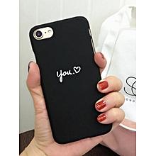 Iphone8/8Plus/7/7Plus/6S/6SPlus/6/6Plus Black Phone Case Frosted Style Black Heart Pattern Cover____IPHONE 6PLUS/6S PLUS____black