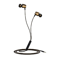 X36M In Ear Magnetic Adsorption Interactive Earphone with Microphone - Golden