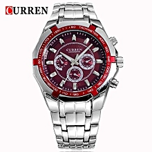 Watches, 8084 curren big eight corners face quartz watch luxury full stainless steel  men watches - Silver