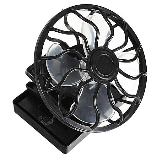Eco-friend Hat Mini Clip Solar Sun Energy Power Panel Cell Cooling Fan  Cooler Black