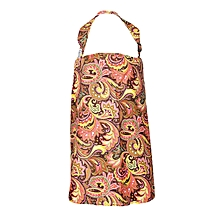 Multicolored Paisley Print Nursing / Breastfeeding Cover With Carrier Pouch