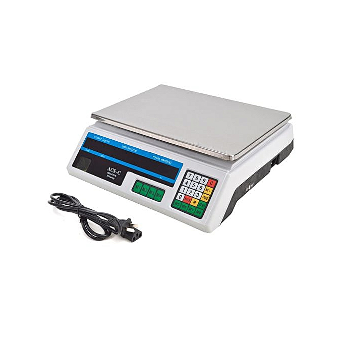 bf5985d2e AMS Acs 30 Digital Weighing Scale - Silver   Best Price