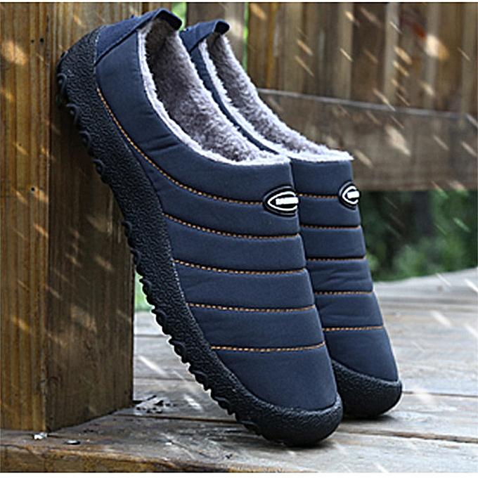 6035e797462c YJP Men's Winter Indoor Slippers House Fur Outdoor Warm Waterproof Casual  Shoes