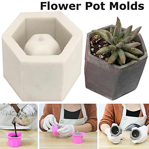 Buy Generic Jm Hexagon Flower Pot Mold Silicone Mold For Vase Cement
