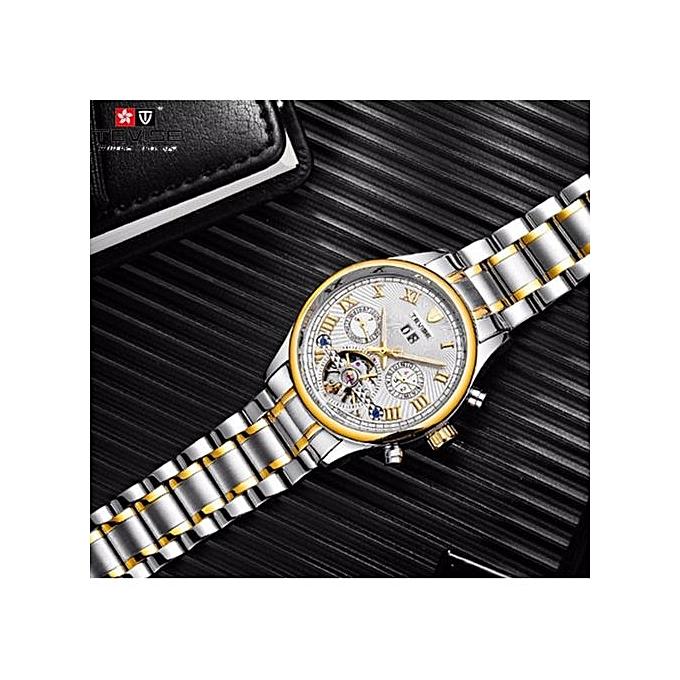 dcf552e0edf ... Relogio Automatico Masculino TEVISE New Men Mechanical Watches Fashion  Business Casual Tourbillon Skeleton Male T806a ...