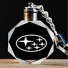 Customized Car Logo Keychain,Lazer Engraved Crystal Keyring,Styling Keychain with Colourful  LED Light Souvenir Gift