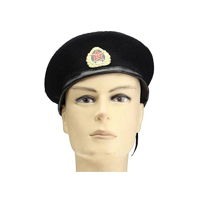 a49c7eef7439c NEW Vintage Military Soldier Army Beanie Hat Unisex Men Women Wool Beret  Cap Black