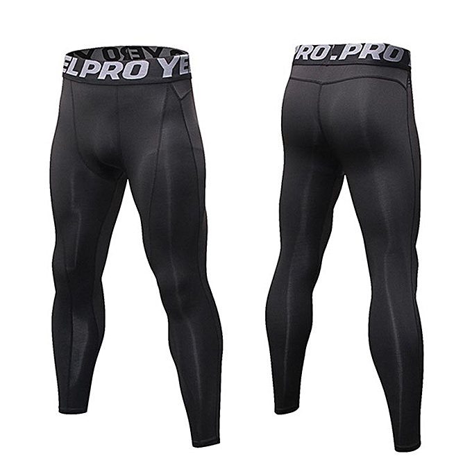 4e6b073788b36 ... Men Fitness Gym Tights Bodybuilding Running Sports Compression Stretchy Quick  Dry Trousers Sweatpants Athletic Training Leggings ...