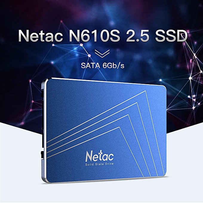 Netac N610S SSD 120GB 2 5in SATAIII 6Gb/s Solid State Drive Extraordinary  Performance SLC Caching Algorithm with R/W Speed 500MB/s